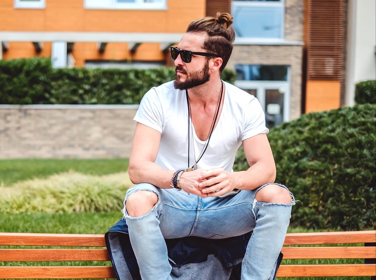 man with undercut bun