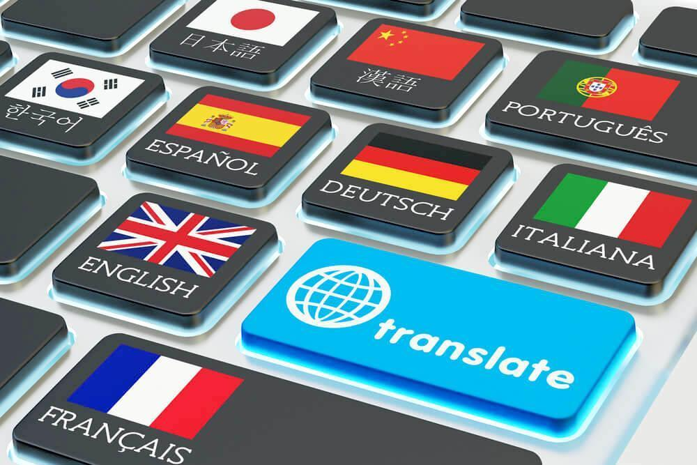 Keyboard with translation options