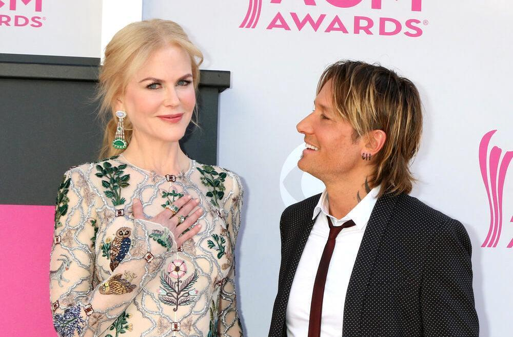 Nicole Kidman, Keith Urban at the Academy of Country Music Awards 2017 at T-Mobile Arena on April 2, 2017 in Las Vegas, NV