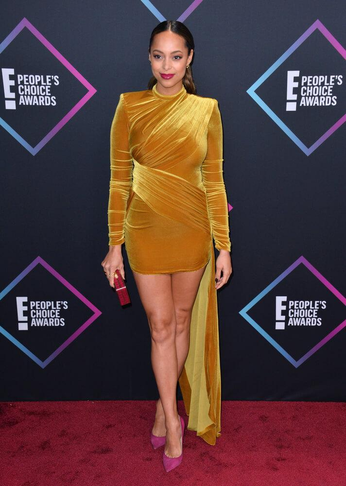 LOS ANGELES, CA. November 11, 2018: Amber Stevens West at the E! People's Choice Awards 2018 at Barker Hangar, Santa Monica Airport.