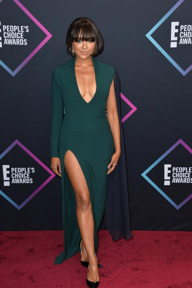 LOS ANGELES, CA. November 11, 2018: Kat Graham at the E! People's Choice Awards 2018 at Barker Hangar, Santa Monica Airport.