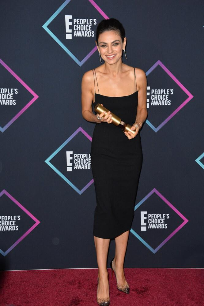 LOS ANGELES, CA. November 11, 2018: Mila Kunis at the E! People's Choice Awards 2018 at Barker Hangar, Santa Monica Airport.