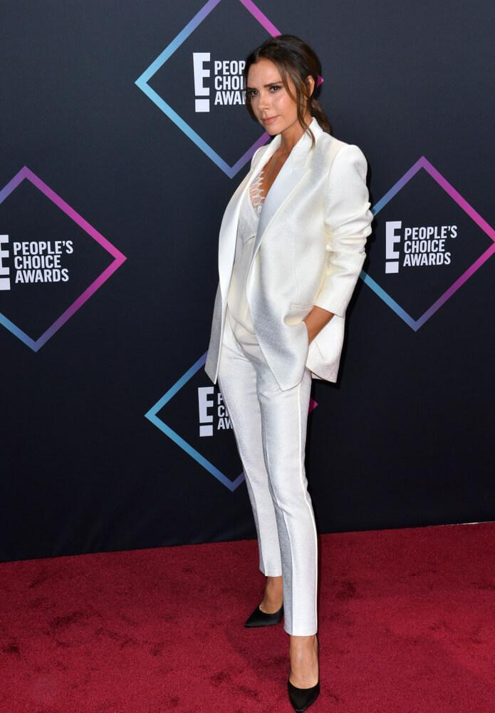LOS ANGELES, CA. November 11, 2018: Victoria Beckham at the E! People's Choice Awards 2018 at Barker Hangar, Santa Monica Airport.