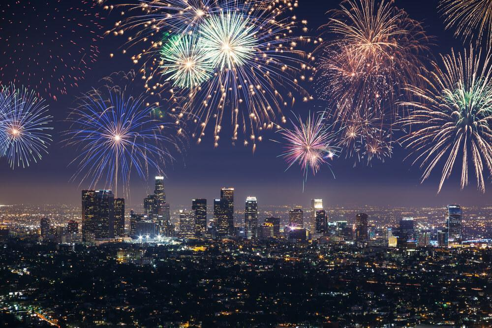 New Year fireworks in Los Angeles
