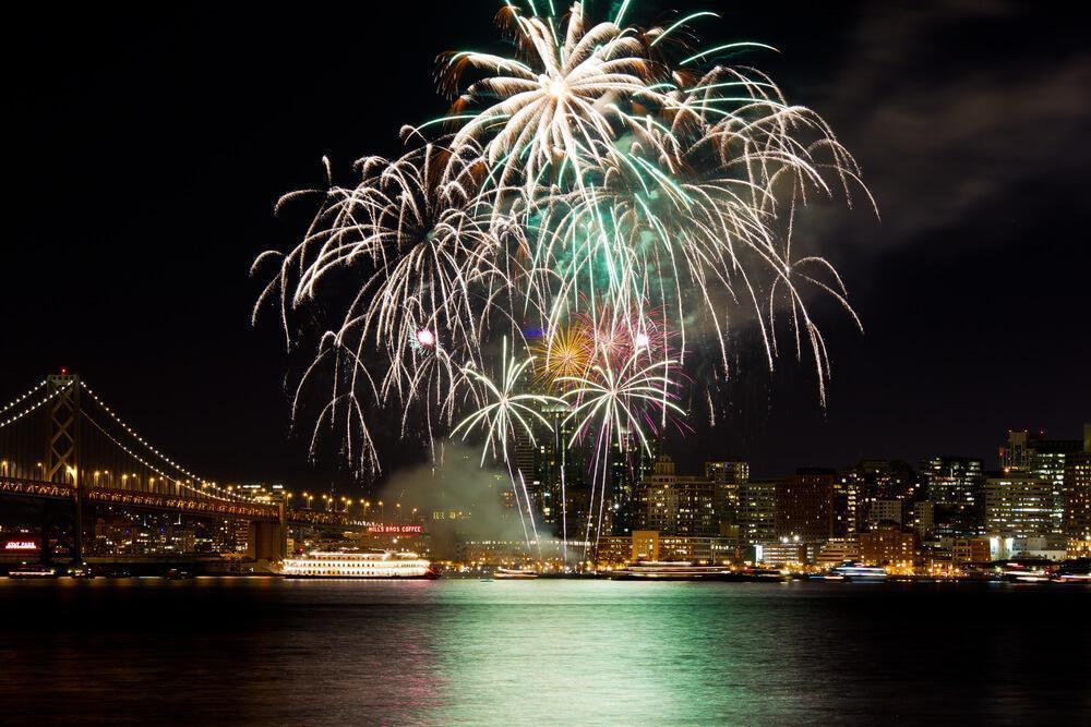 New Year fireworks in San Francisco