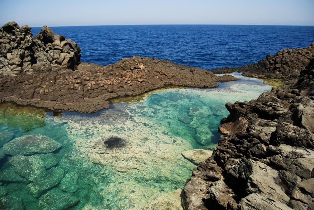 Pantelleria island beach